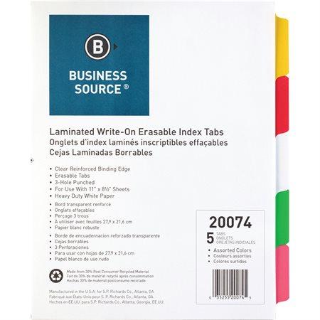 Laminated Tab Dividers