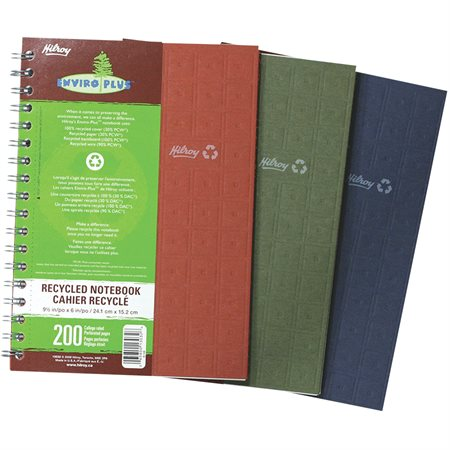 Cahier de notes recyclé Enviro Plus™