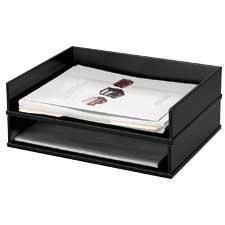 Midnight Black Letter Tray