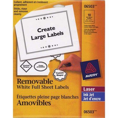 Étiquettes d'identification amovibles