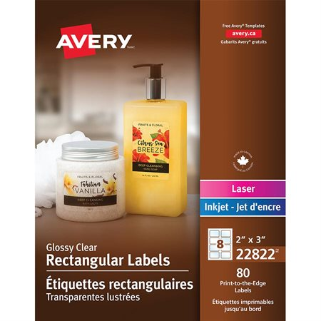 Glossy Rectangular Labels