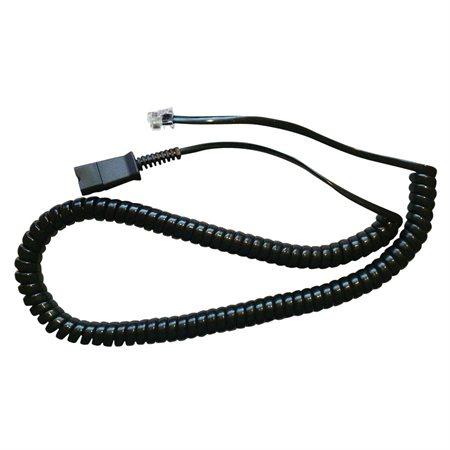 Câble spiralé avec fiche modulaire QD
