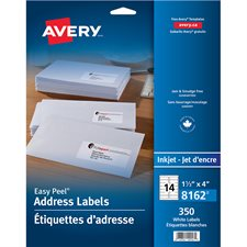 Étiquettes d'adresse blanches Easy Peel®