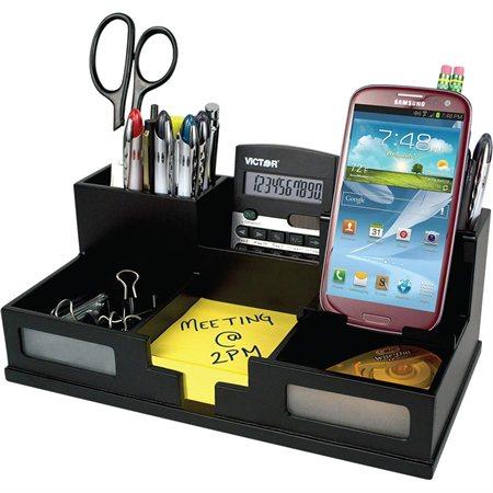 Midnight Desk Organizer with Smartphone Holder