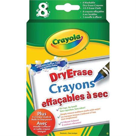 Crayons de cire effaçables à sec