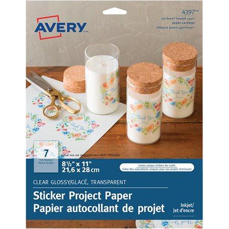 Papier autocollant de projet
