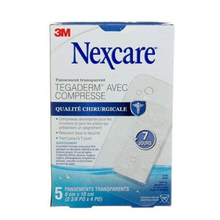 Pansements transparents imperméables Nexcare™ Tegaderm™ +Pad