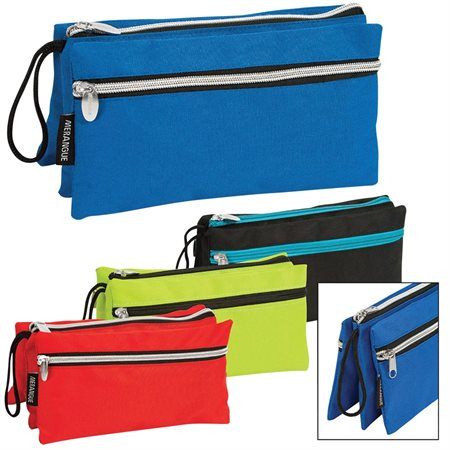 Triple Zipper Pencil Case
