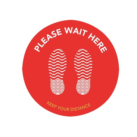 Self-Adhesive Floor Pads For Waiting Lines