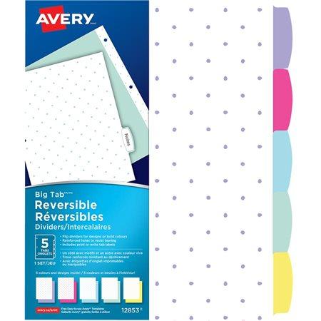 Big Tab™ Reversible Dividers - Mini-Dots