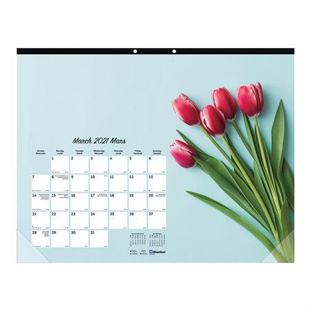 Romantic Monthly Desk Pad Calendar (2021)