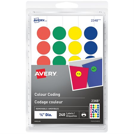 Self-Adhesive Colour Coding Labels