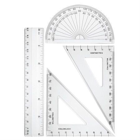 Ensemble de géométrie 4 morceaux