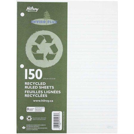 Feuilles mobiles lignées recyclées