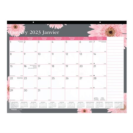 Pink Ribbon Monthly Desk Pad Calendar (2021)