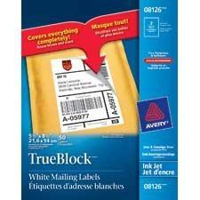 Étiquettes d'adresse blanches TrueBlock™